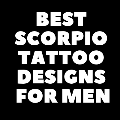 Scorpio Tattoo  For Men