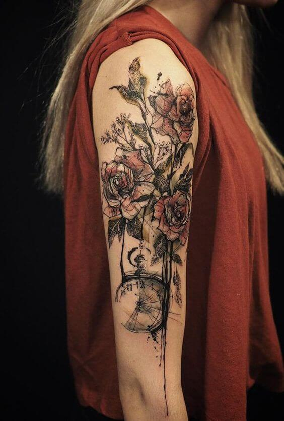 Cool and Pretty Sleeve Tattoo Designs for Women