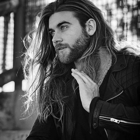 little beard style for strong men