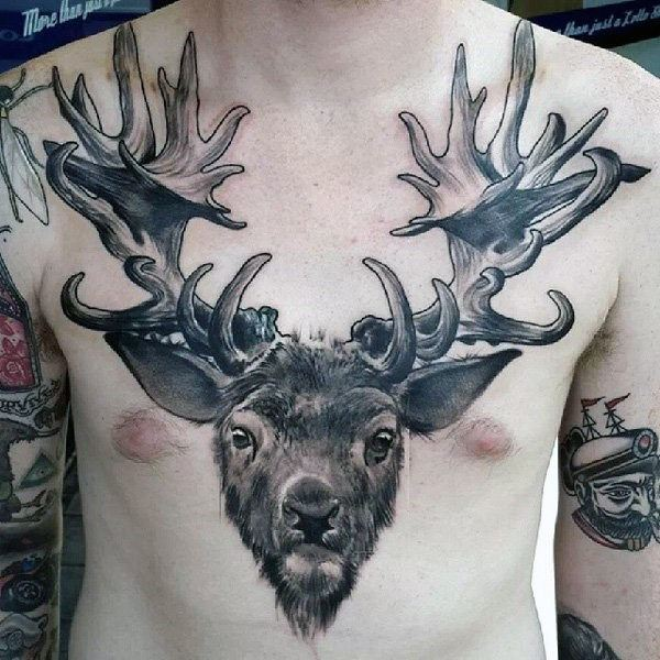 Deer tattoo designs, ideas, meanings, images