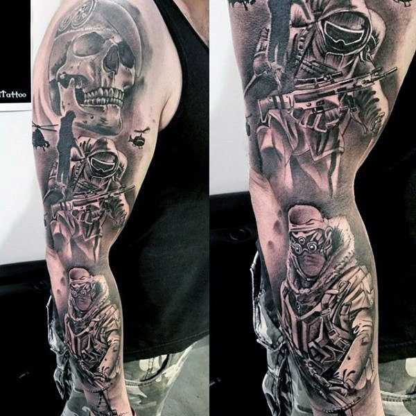 hand tattoos armed forces
