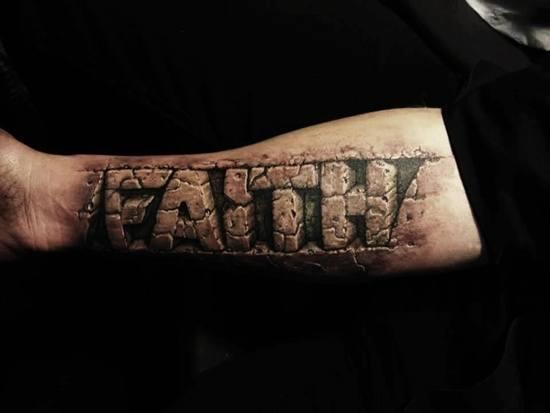word tattoos for men