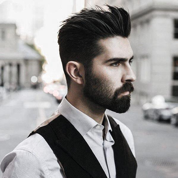 short beard and long mustache styles images