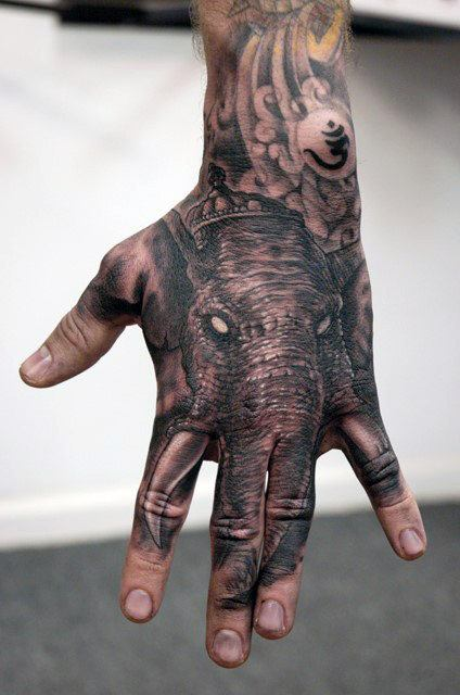 Elephant Tattoo Model and Meanings of Elephan