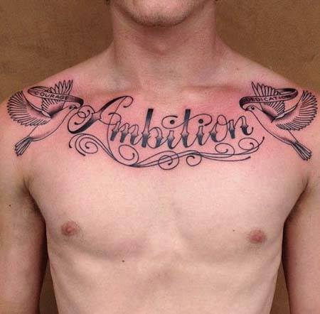 Best Small, Meaningful One Word Tattoo Ideas for men