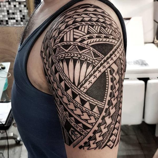 Polynesian Forearm Tattoo Designs For Men