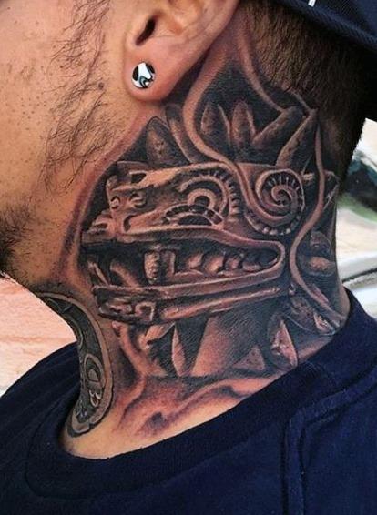 Best Aztec Neck Tattoo Ideas images