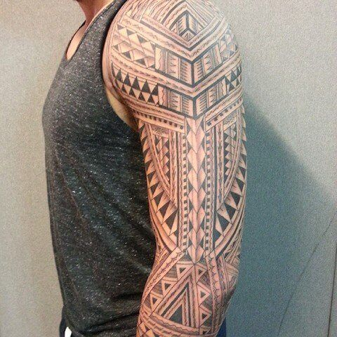 tribal tattoo designs on leg