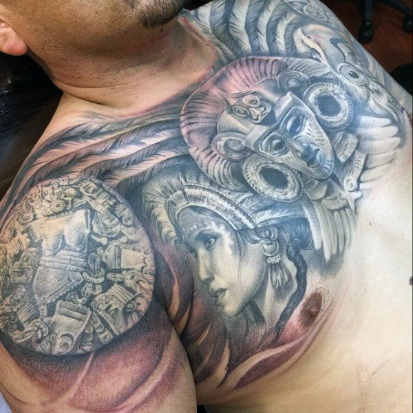 Aztec Tattoos for Men - Ideas and Designs for Guys