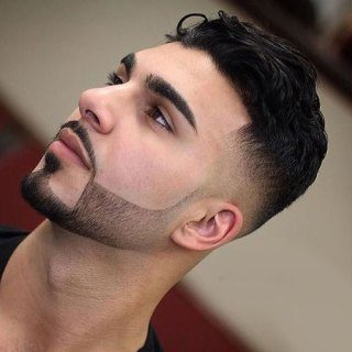 short beard medium hair
