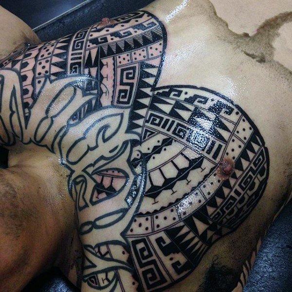 aztec tattoo for men