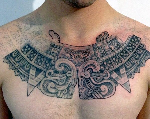 aztec tattoo for male