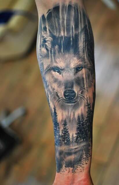 Wild Wolf Tattoos for Men