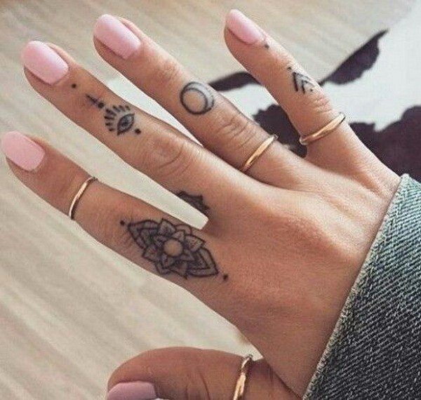 finger tattoo for girl
