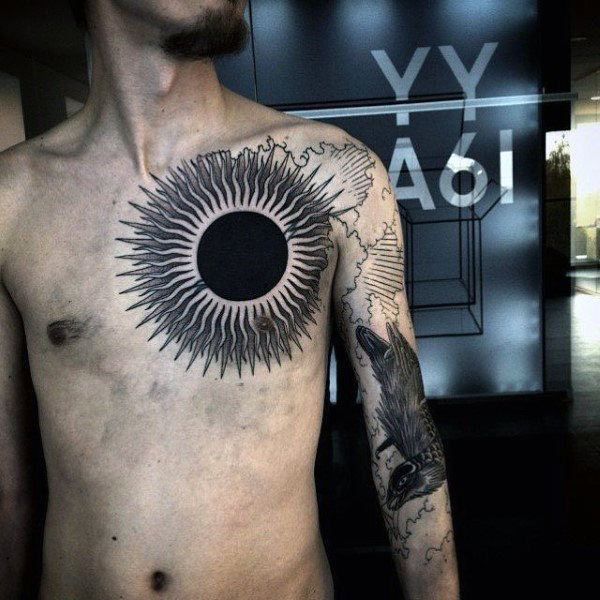 Sun and Moon Tattoos for Men