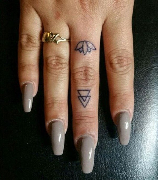 finger tattoo designs for girl