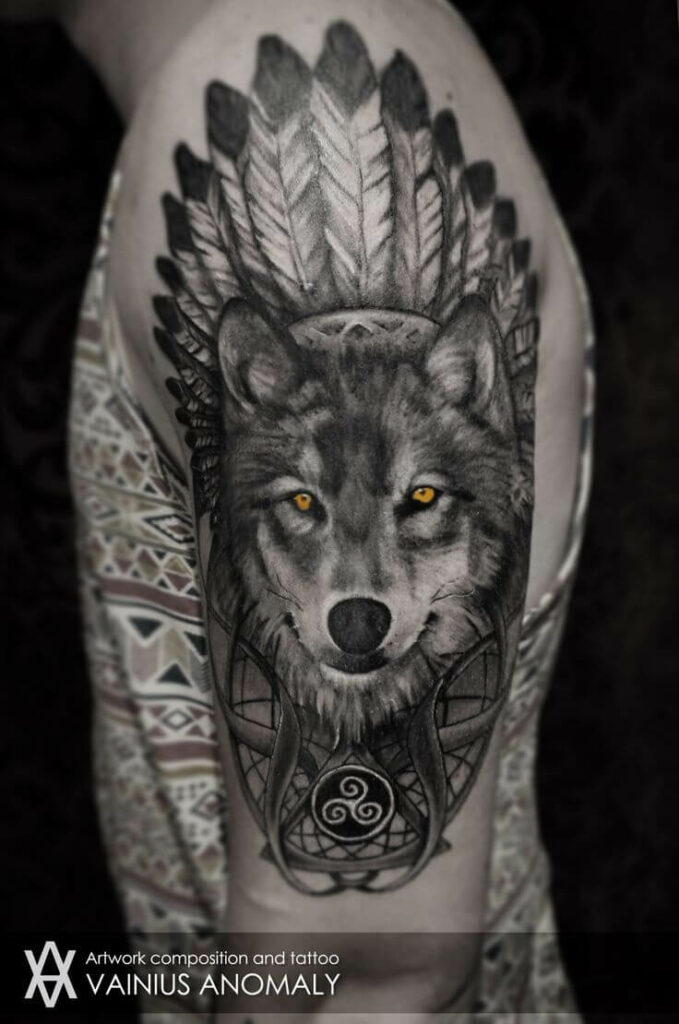 Best Simple Wolf Tattoos For Men images