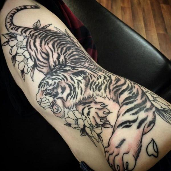 Really Amazing Tiger Tattoos For Men
