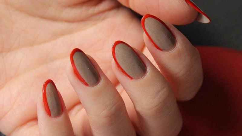 Cute nail design ideas on almond shape nails