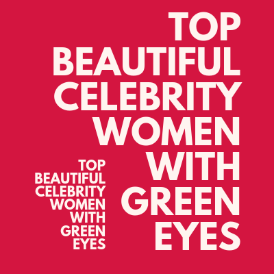 Women with Lovely Green Eyes