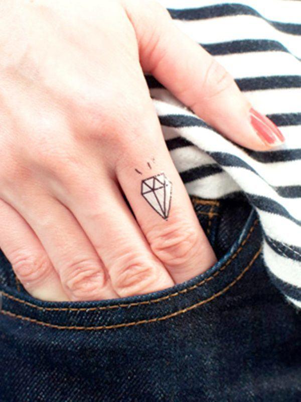 diamond crystal tattoos