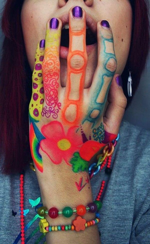Finger Tattoo Designs For Girls
