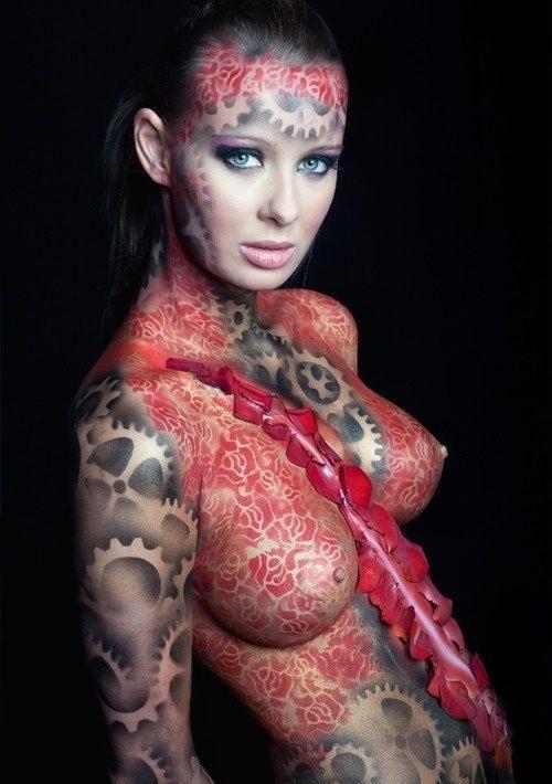 best body paint female design ideas