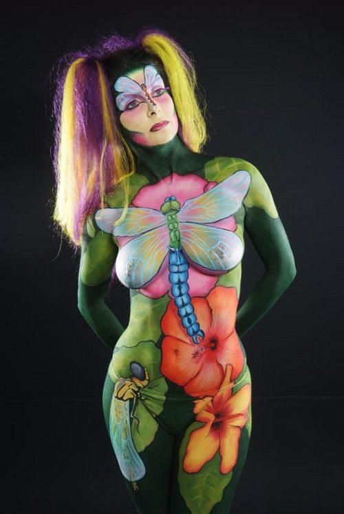 colorful body paint female