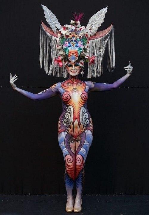 women professional body paint images
