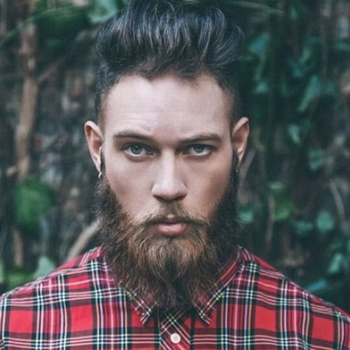 new hairstyle with long beard guys