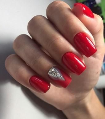 dark red acrylic nail designs