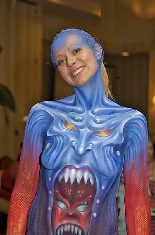 dragon full body painting  female design