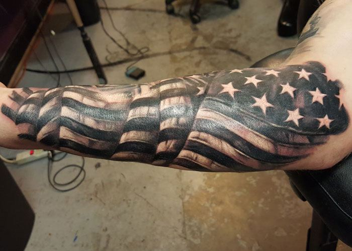 American Flag Tattoos For Men