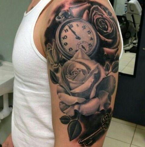 clock tattoo on hand