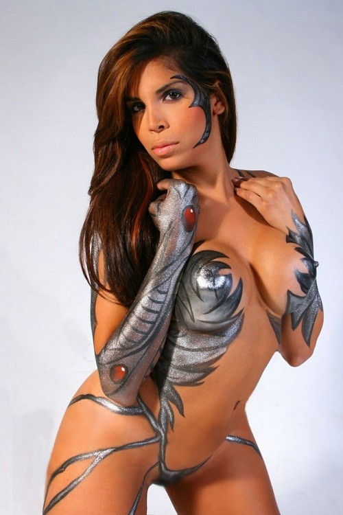sexy female body paint images