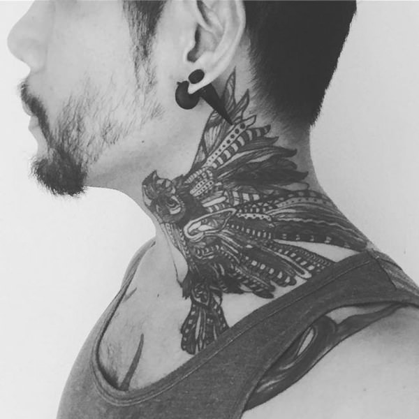 Best Neck Tattoos for Men and guys