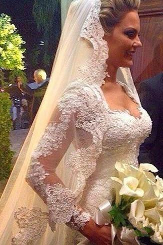 unique bridal veils long