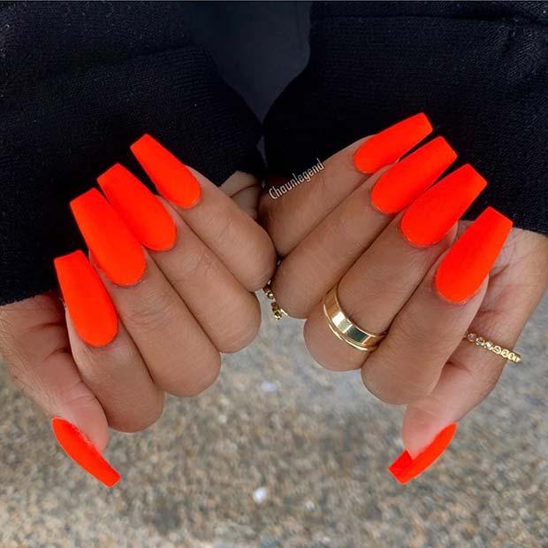 Perfect 24 Neon Nail Designs
