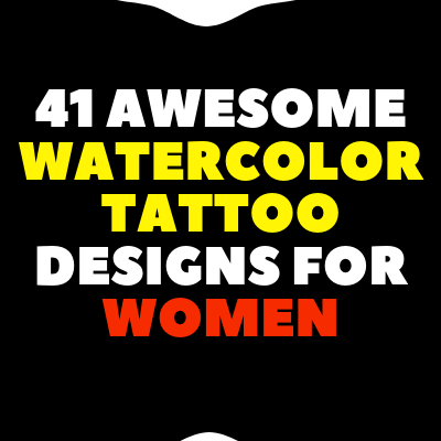 Women Awesome watercolor tattoo