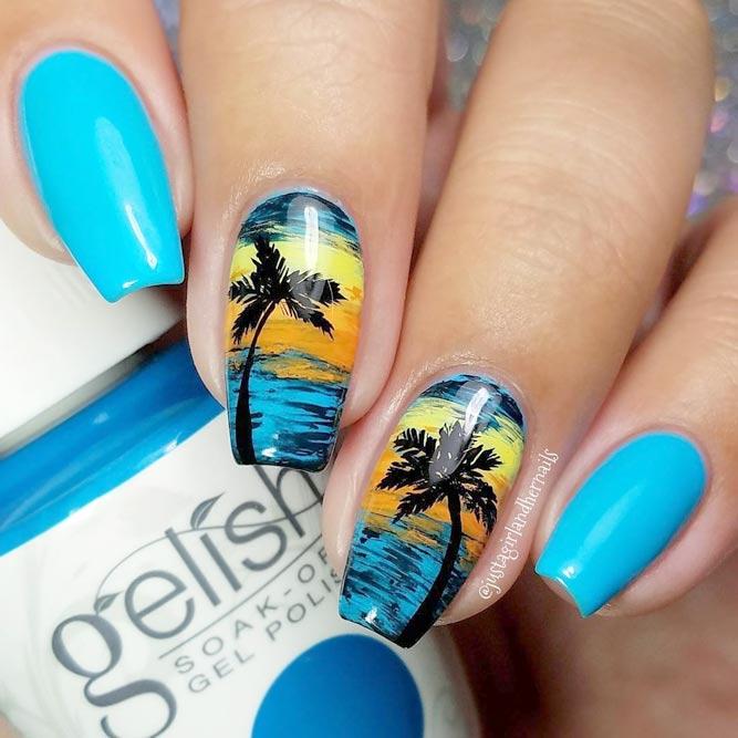 Tropical Nails Designs