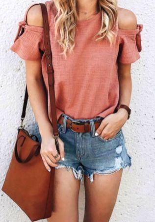 summer outfits with jean shorts