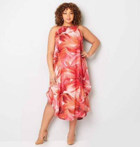 color summer outfits for fat ladies
