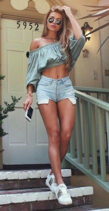 two piece sets shorts and top