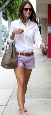 cute outfits with jean shorts