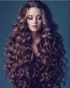 curls in a lovely hairstyle when getting