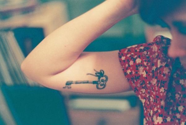 heart with key tattoo
