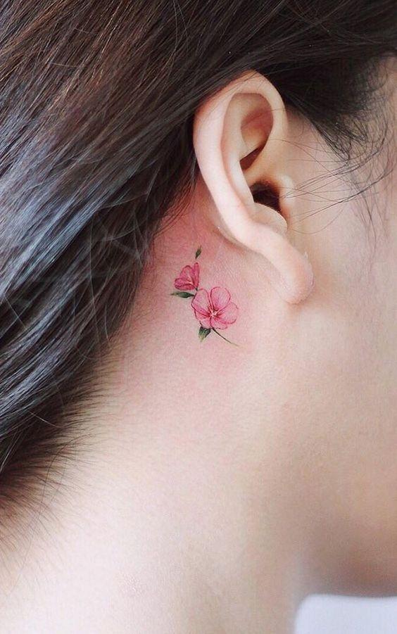 TINY FLOWER TATTOOS FOR CREATIVE FEMALE