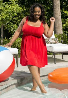 red trendy plus size summer outfits