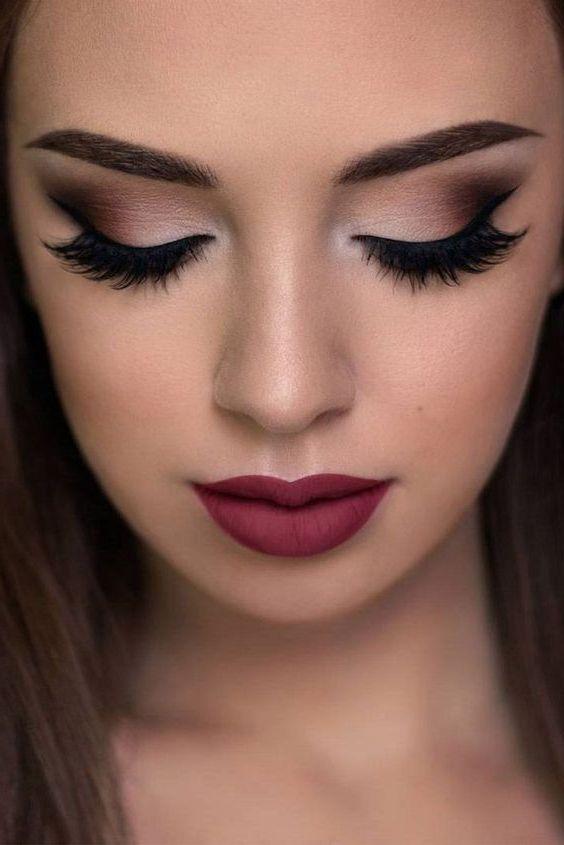 natural makeup brown eyes