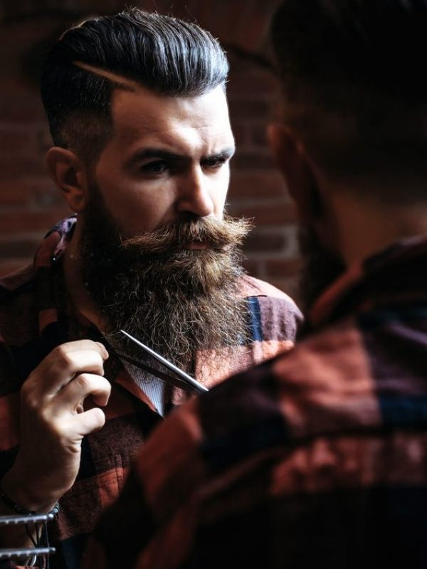 long beard styles for round face